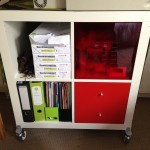 Ikea shelving, drawers and box. We'll be using this for storage of GQA stationery and materials, plus putting the printer on top!