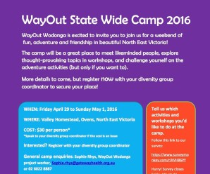Wayout Wodonga Camp for Regional SSASGD young people