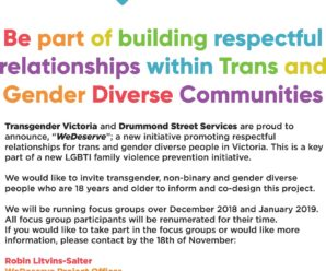 Focus group to help Transgender Victoria