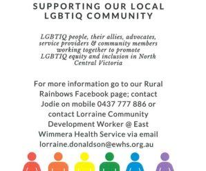 Rural Rainbows & North Central LGBTIQ Network